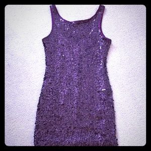 Forever 21 Purple Sequin Party Dress